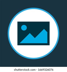 Image icon colored symbol. Premium quality isolated picture element in trendy style.