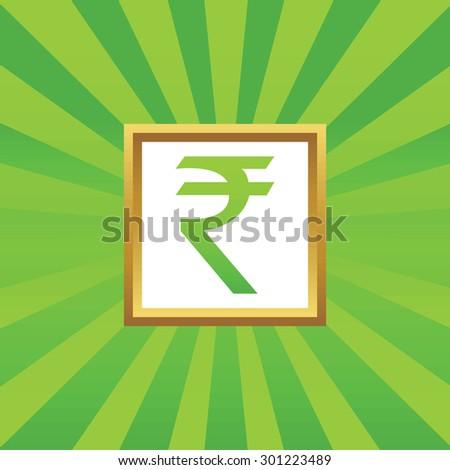 Royalty Free Stock Illustration Of Image Indian Rupee Symbol Golden