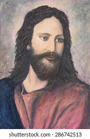 image of Jesus Christ, original oil painting on canvas