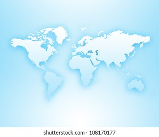Image of a light blue world map