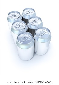 An image of many silver soda cans six pack