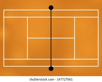 image model of the tennis court