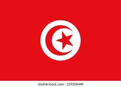 An image of the national flag of Tunisia