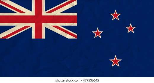 image of the New Zealand  paper  flag