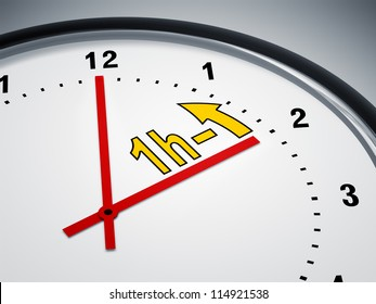 An image of a nice clock showing daylight saving time