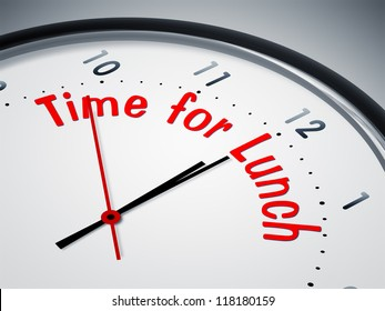 An image of a nice clock with time for lunch