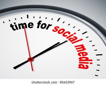 An image of a nice clock with time for social media