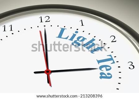 Image Nice Clock Words Light Tea Stock Illustration