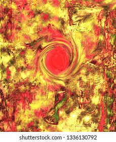 Image of a Original Mixed media Abstract Oil Painting on paper