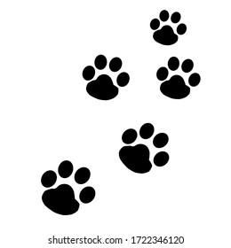 An image of puppy's footprints.