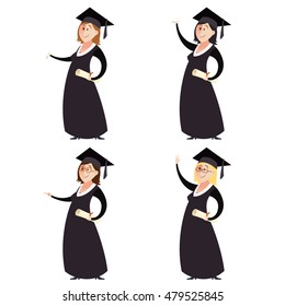 image of Set of graduted women