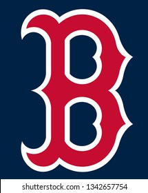 The image shows the emblem of the Boston Red Sox baseball team. USA