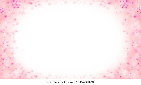 image of spring, cherry blossoms and the petals background