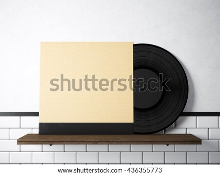 Royalty Free Stock Illustration Of Image Vinyl Music Album Template