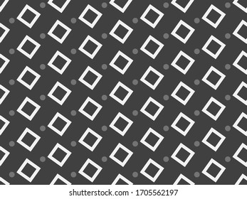 Image without seams. Beautiful pattern on a spring theme. Pattern consisting of  children's scribbles and  square. Background image.