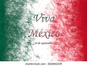 imagen del 16 de septiembre, día de la independencia de México, bandera de México, mes patrio.