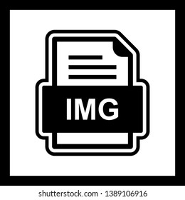 IMG File Document Icon In Trendy Style Isolated Background
