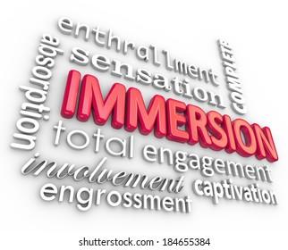 Immersion 3D Word Background Engagement Sensation