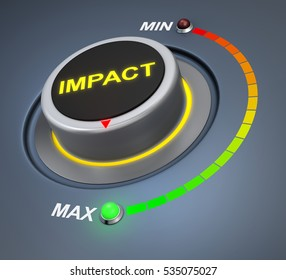 impact button position  3d rendering