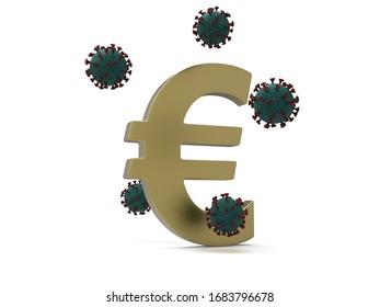 Auswirkungen des Virus auf den 3D-Render der Wirtschaft