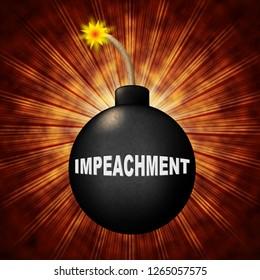 Impeach Crisis Bomb To Remove Corrupt President Or Politician. Legal Indictment In Politics.