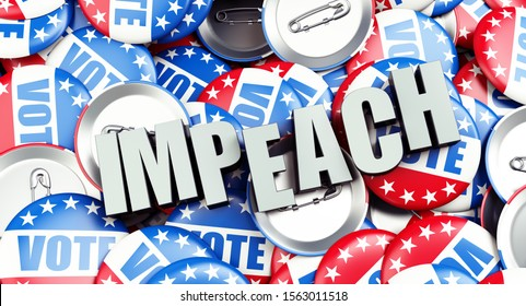 impeachment of the USA president, presidential election 3D illustration, 3D rendering
