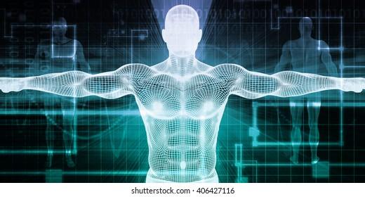 Implant Technology or Transplants and Implants Concept 3d Illustration Render