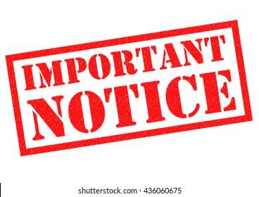 important notice images stock photos vectors shutterstock