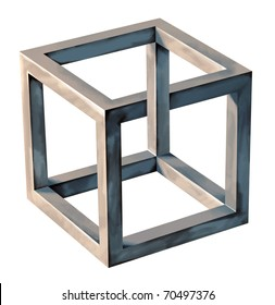 Impossible Cube, abstract Object, Symbol