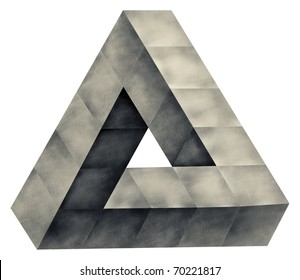 Impossible triangle, abstract Object, symbol