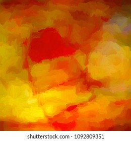 Impressionist style abstract background in warm oranges and yellows.
