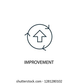 improvement concept line icon. Simple element illustration. improvement  concept outline symbol design. Can be used for web and mobile UI/UX