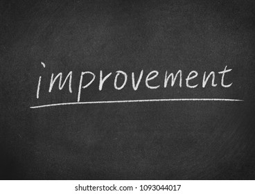 improvement concept word on a blackboard background