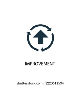 improvement icon. Simple element illustration. improvement concept symbol design. Can be used for web and mobile.