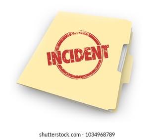 Incident Record Event Evidence Document Folder 3d Illustration