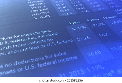 Income statement showing taxes