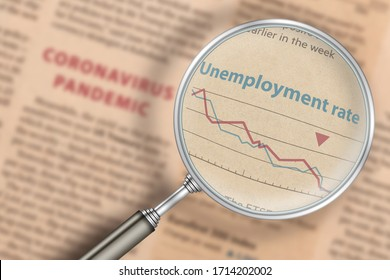 The increase in unemployment. News in the newspaper on the impact of the coronavirus pandemic on the number of unemployed