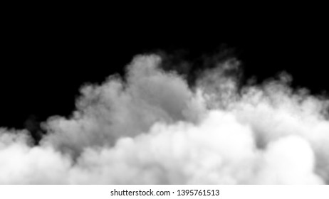An increasing cloud of Smoke after a strong explosion and shock wave. 3D Rendering