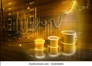 Increasing price of oil concept. Abstract background