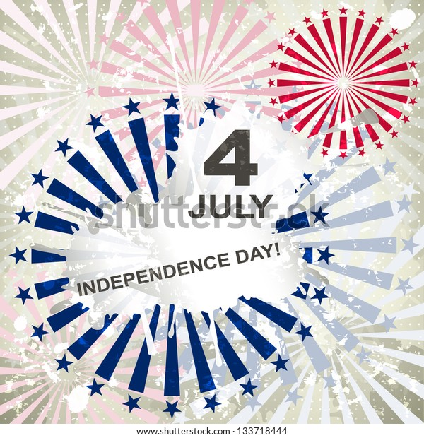 Independence Day card or background. July 4. Vector.