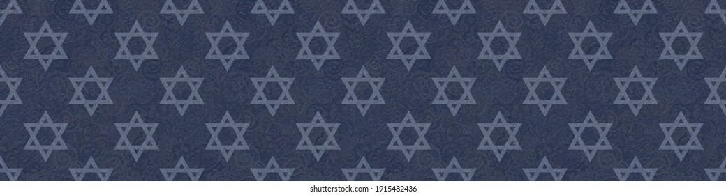 The Independence Day of the State of Israel with a festive and patriotic print of the Stars of David - the symbol of Judaism, suitable for decorating celebrations, design and greeting cards