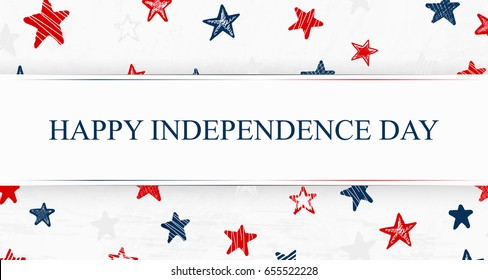 Independence Day. US Independence Day.  Happy Independence Day. Independence Day 4th july. Template background with USA falling confetti stars for greeting cards, posters, banner, leaflets, brochure