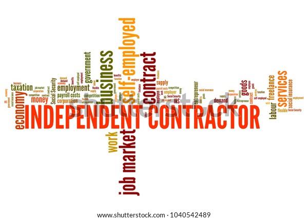 Independent Contractors Job Market Economy Word Stock