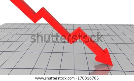 index red goes down loss money stock illustration 170816705
