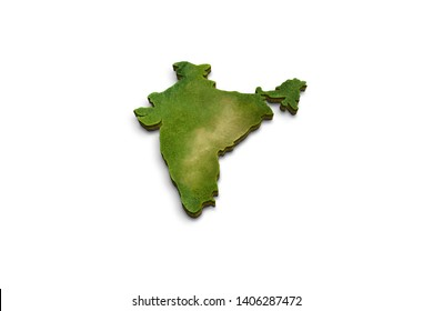 India 3D map isolated isometric