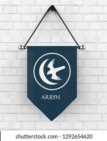 India , delhi - 12 October, 2018: Heraldic symbol of house Arryn from game of thrones. 3d illustration.