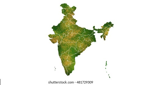 India detailed country map visualization