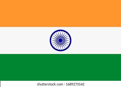 India flag background flag illustration saffron white green Ashoka Chakra blue wheel