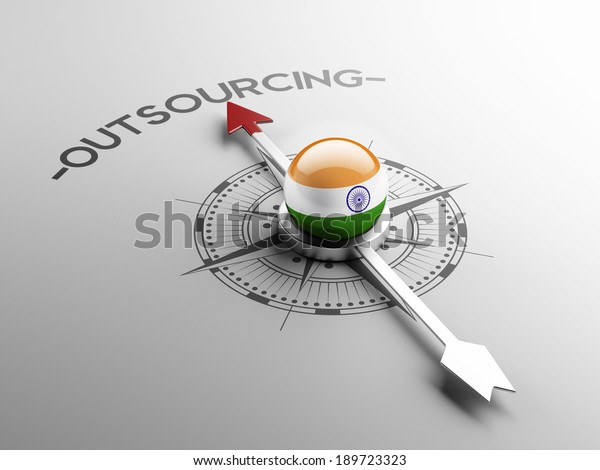 India High Resolution Outsourcing Concept