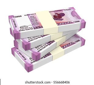 India Rupee isolated on white background. 3D illustration.